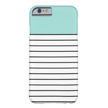 Mint Green Black Stripes iPhone 6 Case