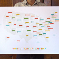 American Flags Map