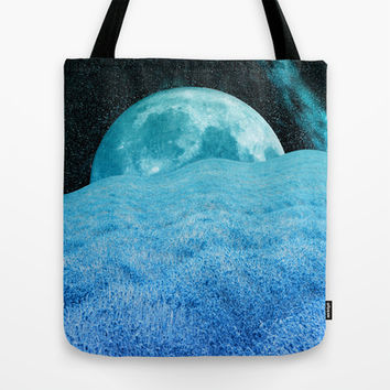 BLUE LAVENDER MOON Tote Bag by Catspaws | Society6