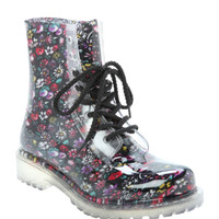Dirty Laundry Floral Rain Boot
