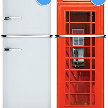 "Door Wall Fridge VINYL STICKER or not sticky PAPER London Telephone Box Phone booth poster 30x80""(77x203 cm) (Paper)"