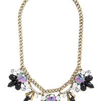 ModCloth Luxe Every Now and Gem Necklace in Noir