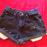 Custom High Waisted Wrangler Denim Shorts
