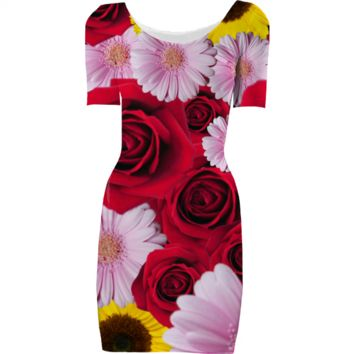 Flower bomb dress created by duckyb | Print All Over Me