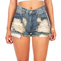 Swamp Crawl High Waist Shorts