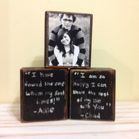 Personalized Wedding gift/Home decor gift black and white personalized picture with personalized saying bride and groom wedding reception