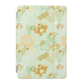 Trendy Modern Green Floral Pattern iPad Mini Cover