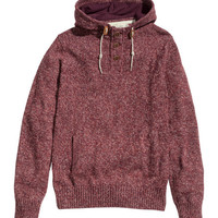 Hooded Knit Sweater - from H&M