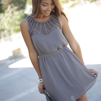 'Genevieve' Lace Detail Shift Dress