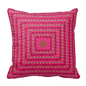 Heart Rings Square Throw Pillow