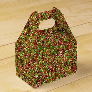 Bedazzled Sparkles, Pink-Green Gable Favor Box