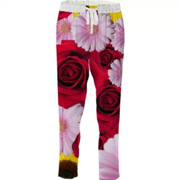 Flower bomb drawstring pant created by duckyb | Print All Over Me