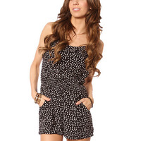 Papaya Clothing Online :: DOT PRINT CASUAL ROMPER