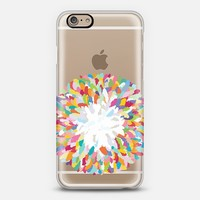 fizzy feathers transparent iPhone 6 case by Sharon Turner | Casetify ~ $10 off using code: 5A7DC3