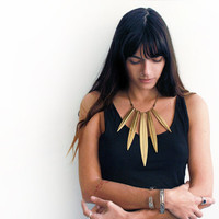 Knife bib necklace