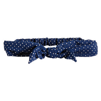 Aeropostale Glitter Dot Bow Headband - Navy, One