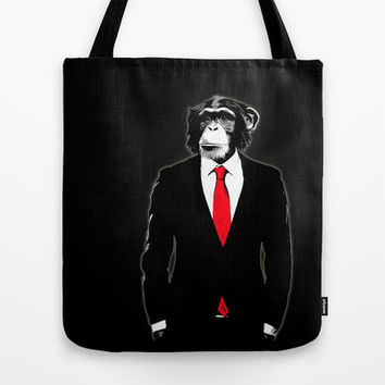 Domesticated Monkey Tote Bag by Nicklas Gustafsson