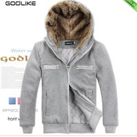 Korean Style Lover's Cloths Unisex Cotton Casual Jacket Grey S/M/L/XL @S0-052-1g $41.63 only in eFexcity.com.
