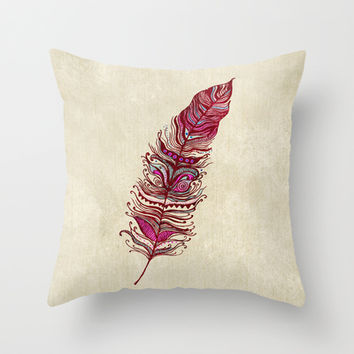 Fly With Me Throw Pillow by rskinner1122