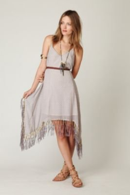 Free People Beaded Printed Fringe Dress at Free People Clothing Boutique