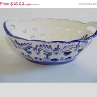 20% OFF SUMMER SALE Vintage Delft Blue Dutch Bowl