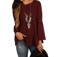 Burgundy Dream Catcher Top