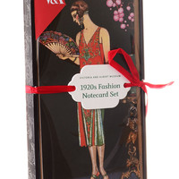 1920s Fashion Notecards Set