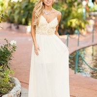 Filled with Roses Maxi Ivory