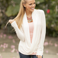 Swept Away Drape Top White