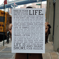 Holstee Manifesto Poster by Holstee | HOLSTEE