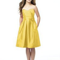 Taffeta Sweetheart A Line Knee Length Junior Bridesmaid Gown Style JR506 $95.00 only in eFexcity.com.