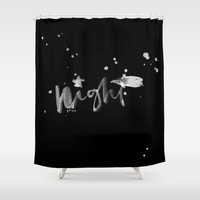 Night Shower Curtain by Feling Poh | Society6