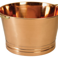 Round Copper Party Tub, Bottle Stoppers
