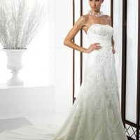 Column or Sheath Sweetheart Floor Length Gown with Net Chiffon and Satin J6128 : $257.00 at VikiDress.com.