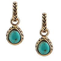 Barse Bronze & Turquoise Earrings - Bronze/Turquoise