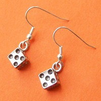 Dice Charm Dangle Earrings by SaritasJewelryBox on Etsy