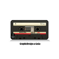 Iphone 4 case, Cassette Tape design, custom cell phone case, Original design