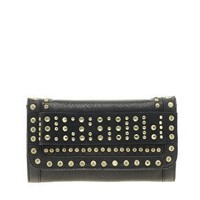 River Island Studded Foldover Clutch Bag at asos.com