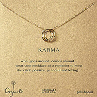 Dogeared Triple Karma Ring Necklace - Gold