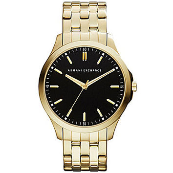 AX Armani Exchange Stainless Steel 3-Hand Watch  Gold