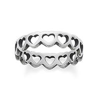 James Avery Tiny Hearts Band Ring - Sterling Silver 8