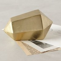 Angled Heirloom Paperweight by Anthropologie Gold
