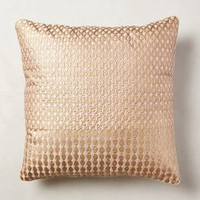 Shimmered Malavika Pillow by Anthropologie Pink 18 In. Square Pillows