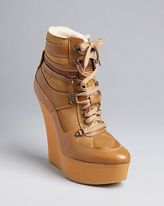 Burberry Lace Up Wedge Booties - Tayport | Bloomingdale's
