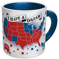 Democratic Dream Mug - Add Hot Liquid to Make All the States Blue! - Whimsical & Unique Gift Ideas for the Coolest Gift Givers