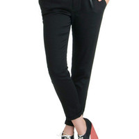 ModCloth Menswear Inspired Mid-length Cropped New Slack Swing Pants in Black