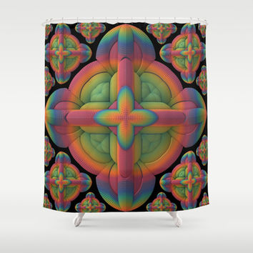 Obsessive Repetition Shower Curtain by Lyle Hatch