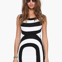 Psychedelic Wave Sleeveless Bodycon Mini Dress