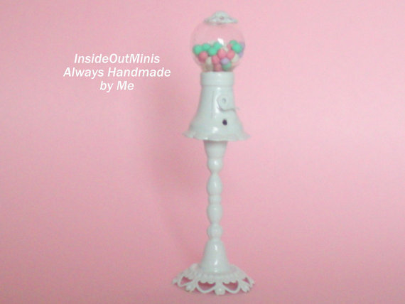 Miniature Dollhouse Gumball Machine