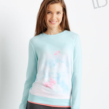 Aeropostale LLD Long Sleeve Sublimated Polar Bears Sweatshirt - Bleach,